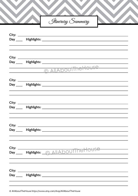 Blank Trip Itinerary Template by 10 Best Images Of Printable Blank Travel Itinerary
