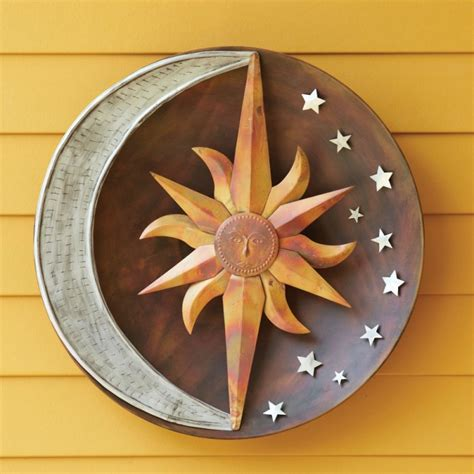celestial sun moon and flamed wall 24 quot