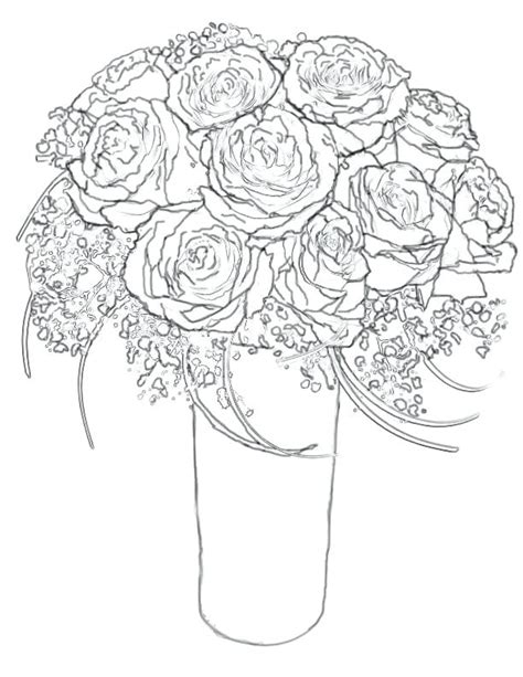 Coloring Website by Realistic Flowers Drawing At Getdrawings Free For