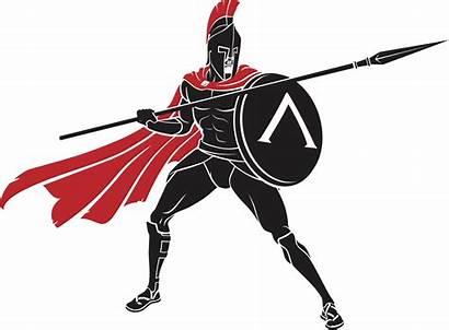 Spartan Warrior Spear Shield Battle Vector Children