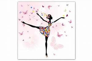 Tableau Deco Enfant : tableau enfant f e danseuse 80x80 cm tableaux enfants pas cher ~ Teatrodelosmanantiales.com Idées de Décoration
