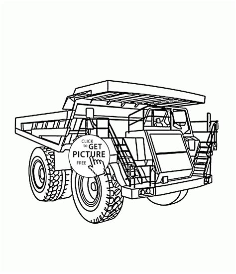 big truck coloring page  kids transportation coloring pages printables  wupp