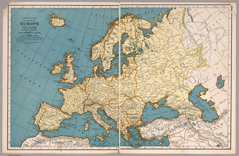 Aesthetically pleasing Map of Europe made by Rand McNally ...