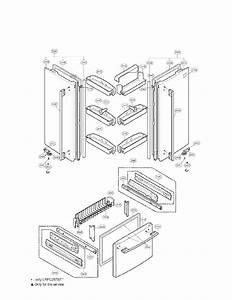 Door Parts Diagram  U0026 Parts List For Model Lrfc25750st Lg