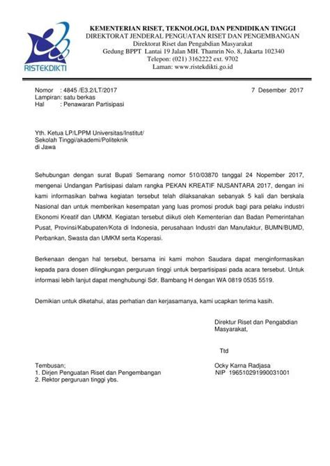 contoh surat penawaran partisipasi pl new