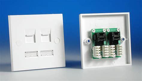 1 gang twin rj45 cat5e data socket