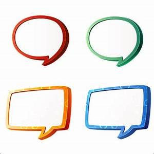 Psd Detail 3d Speech Bubbles Official Psds Picture to Pin ...