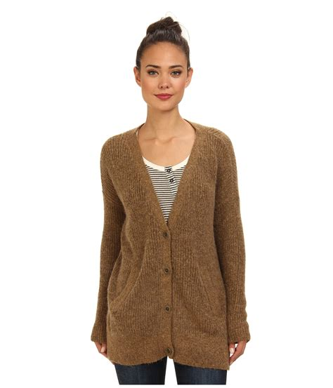 sweater cardigan cloudy brown lyst camel