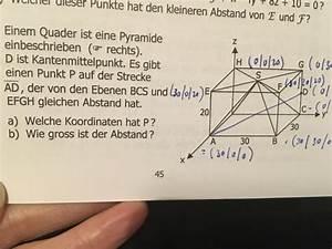 Fehlende Koordinaten Berechnen Vektoren : koordinaten von p berechnen mathelounge ~ Themetempest.com Abrechnung