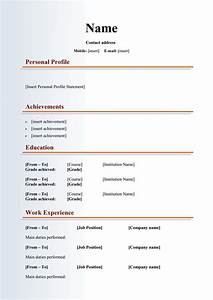48 great curriculum vitae templates examples template lab With curriculum template