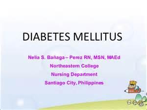 Nursing Management Diabetes Mellitus