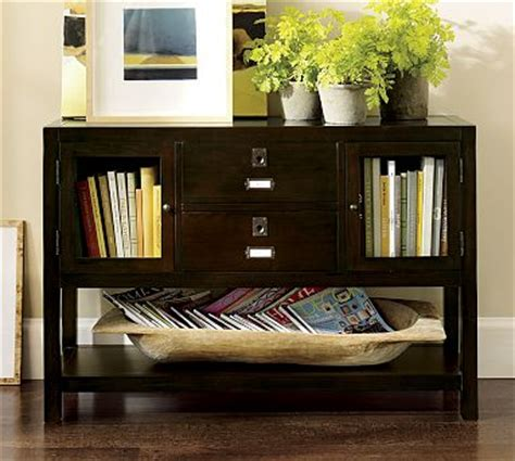 pottery barn rhys console table knockoff