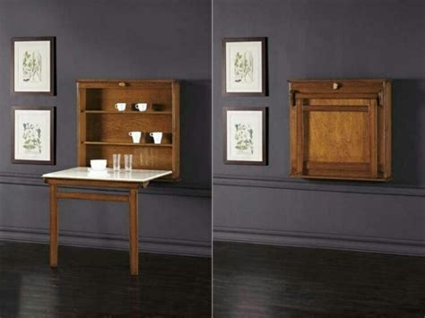 table de cuisine retractable la table murale rabattable est un meuble moderne qui