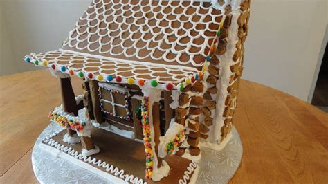 gingerbread log cabin part  youtube