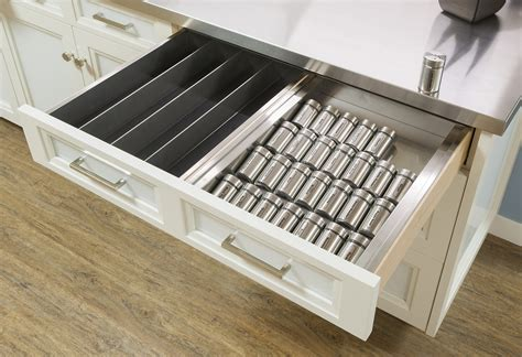 Drawer Spice Rack by Organize Your Cabinets Custom Cabinets