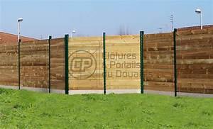 Planche Bois Autoclave : cl ture planche bois mixte cloture du douaisis ~ Premium-room.com Idées de Décoration