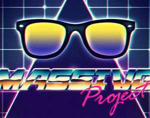 80s style retrofuturism sci fi chrome neon style on