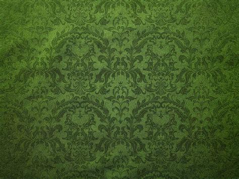 Vintage Green Damask Floral Pattern Canvas Background
