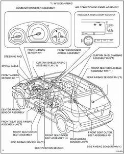 Toyota Sienna Service Manual  Parts Location - Airbag System