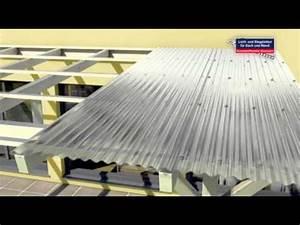 Doppelstegplatten Verlegen Unterkonstruktion : verlegevideo f r lichtplatten und wellplatten youtube ~ Frokenaadalensverden.com Haus und Dekorationen