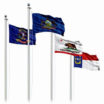 State Flag Flags Flagpole Optional Advertising