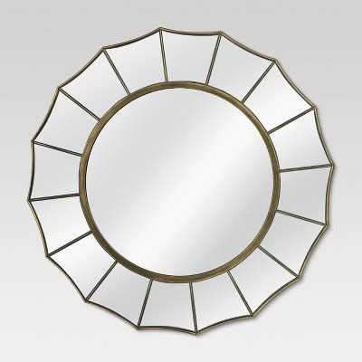 """Patton gold round wall mirror with decorative handle sale $99.99. 24"""" Round Decorative Wall Mirror Antique Gold - MCS ..."""