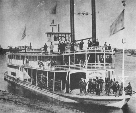 Steam Boat Old by Red River Steamboat Manitoba Assiniboine River History