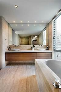 miroir adhesif salle de bain maison design bahbecom With carrelage adhesif salle de bain avec spot led sur cable