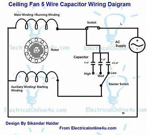 Wiring Diagram For Capacitor Start Fan Motor