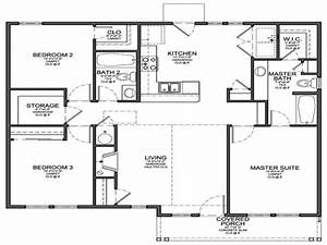 Small 3 bedroom floor plans small 3 bedroom house floor for Bedroom floor plans house
