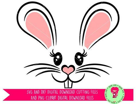 Easter bunny svg file download. Easter Bunny Rabbit Face SVG / DXF Cutting File for Cricut ...