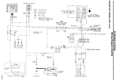 1994 Nissan Wiring Diagram by My 1994 Nissan Maxima Will Not Crank And The Securit Light