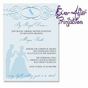 17 best ideas about cinderella bridal showers on pinterest With wedding invitations to disney characters