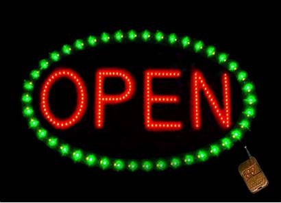 Sign Open Neon Animated Signs Gifs Led