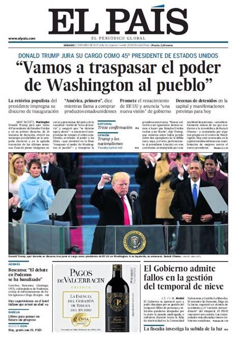 Las portadas de los periódicos de hoy, sábado 21 de enero