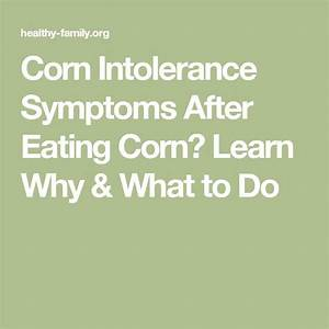 Corn Intolerance Symptoms After Eating Corn  Learn Why