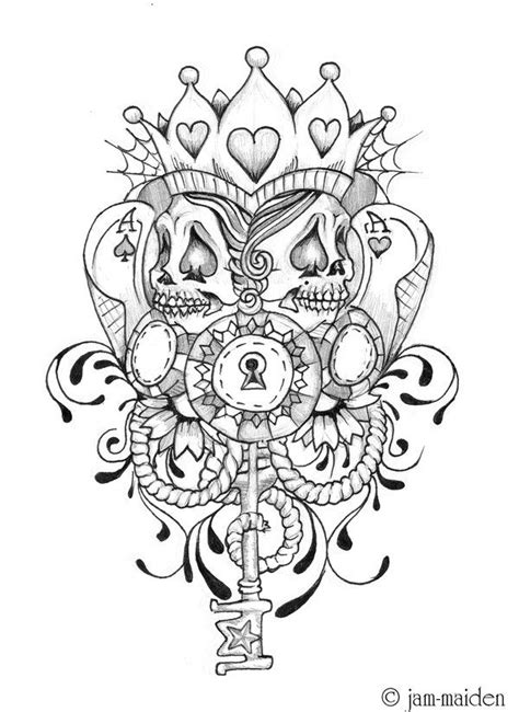 poker face  ohmindflowers  deviantart poker tattoo chicano art tattoos card tattoo