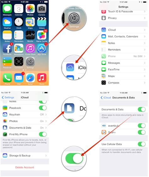 documents and data on iphone how to set up and use documents in the cloud imore