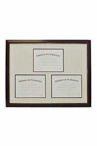 triple diploma frame multiple diploma display With triple document frame
