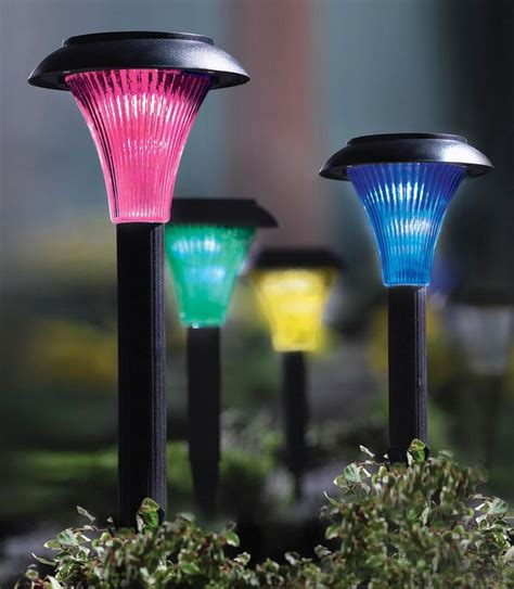 4 color solar garden lights