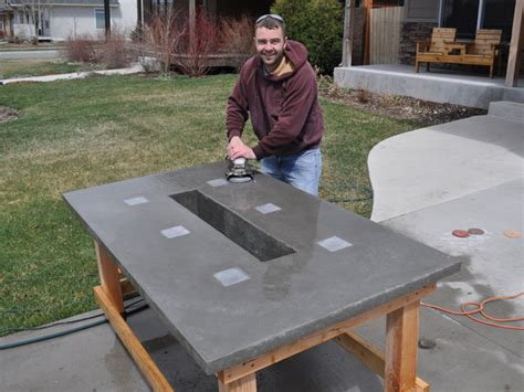 how to make a concrete table stunning led concrete patio table with a built in cooler