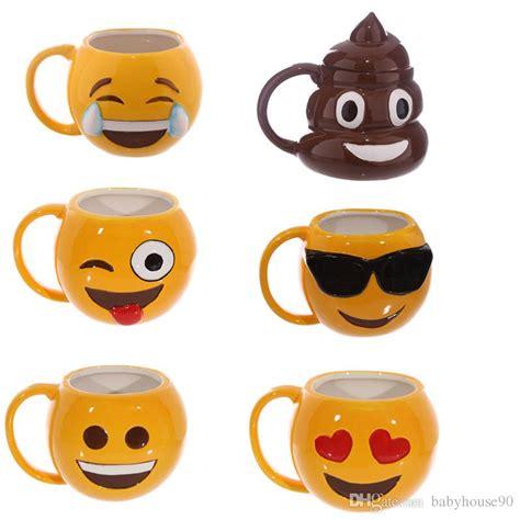 Mugs Spoof Funny Poo Shaped Cups With Lid Emoji Mug Ceramics Lovers Tumbler Kawaii Zakka Style