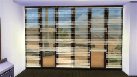 my sims 4 horizontal curtain blinds by adonispluto