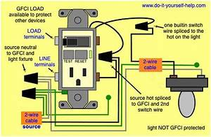 Wiring Diagram For A Gfci Outlet Switch Combo With