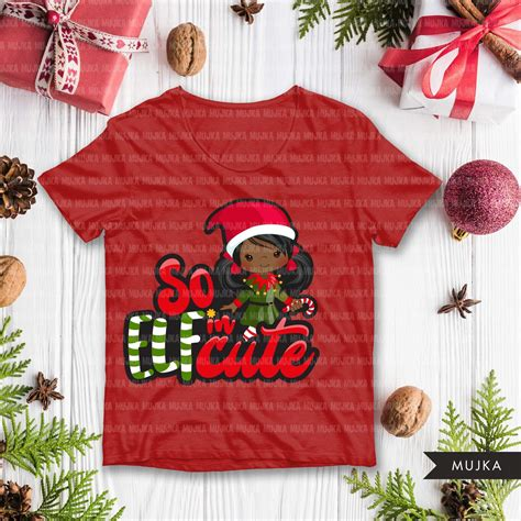 Formats included in the download are dxf, eps, jpg, pdf, png and svg. Christmas SVG PNG digital, So Elfin Cute HTV sublimation ...