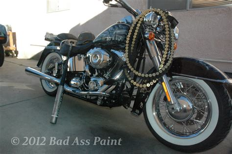 black and white paint custom motorcycle paint