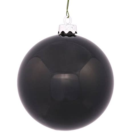 vickerman 24949 3 quot black shiny ball christmas tree