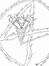 Torch Human Coloring Storm Marvel Johnny Richbernatovech Printable Adults Deviantart Comics sketch template