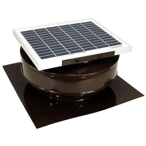 solar powered attic fan reviews active ventilation 365 cfm brown powder coated 5 watt