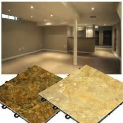 Floor For Basement by Slate Look Flooring Interlocking Basement Floor Tiles